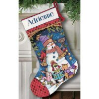 Cute Carolers Stocking Dimensions 08751