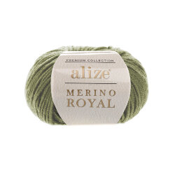 Пряжа Alize Merino Royal цвет хаки 485