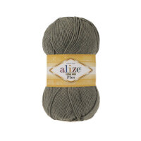 Пряжа Alize Cotton gold plus цвет хаки меланж 270