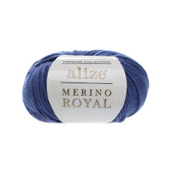 Пряжа Alize Merino Royal цвет ярко синий 444