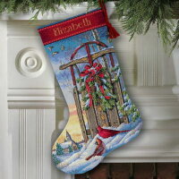 Christmas Sled Stocking Dimensions 08819