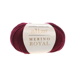 Пряжа Alize Merino Royal цвет бордо 323