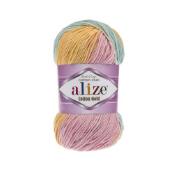 Пряжа Alize Cotton gold batik цвет 6784